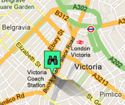Click For Map Of Victoria Coach Station Hotels